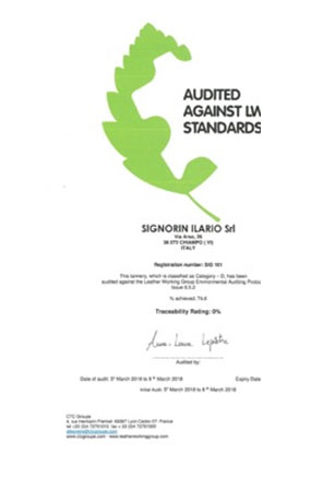 Audited against LWG standards